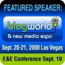 Featured Speaker at BlogWorld Expo