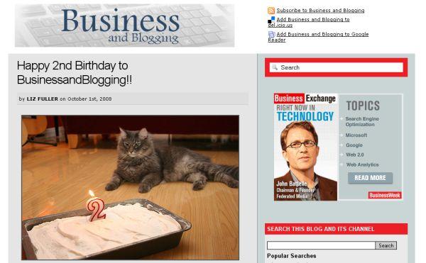 Business and Blogging screenshot