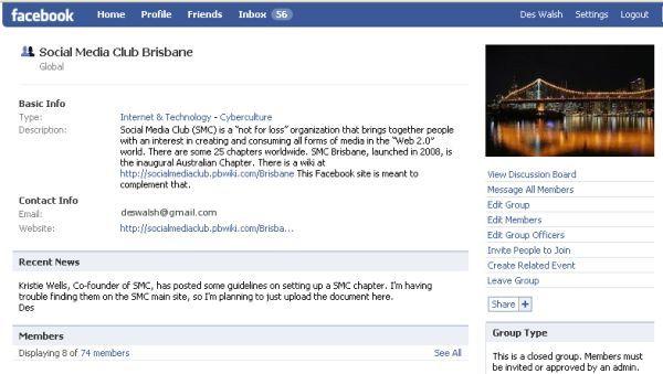 Social Media Club Brisbane Facebook group