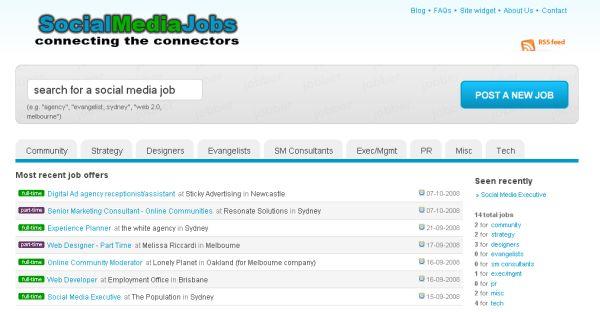 Social Media Jobs site