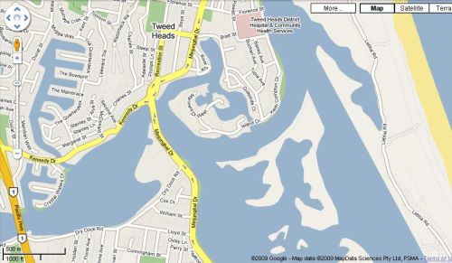 Map, Island Drive, Tweed Heads