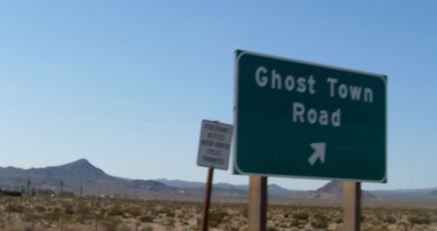 Road sign: Ghost Town Road