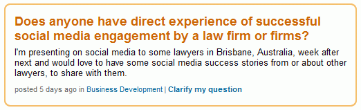 Law Firms and Social Media Success Stories 1