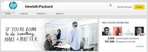 Hewlett-Packard company page on LinkedIn