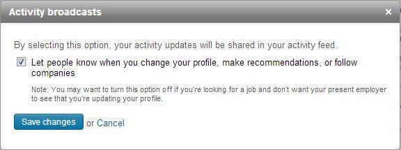 Turn off LinkedIn activity notifications