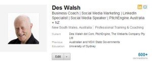 Des Walsh Professional Headline LinkedIn