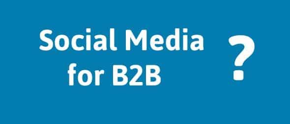 Establishing the Business Value of Social Media for a B2B Company