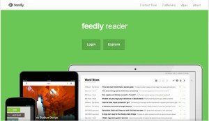 Feedly home page screenshot