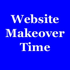 website makeover time badge copy