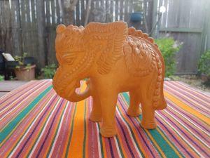Clay elephant from Java
