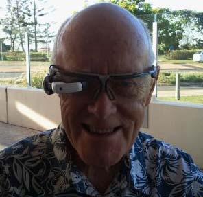 Des Walsh wearing M100 glasses from Vuzix Corporation