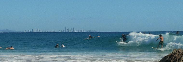 Surfers at Snapper Rocks