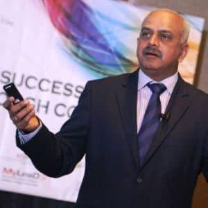 IAC President, Krishna Kumar